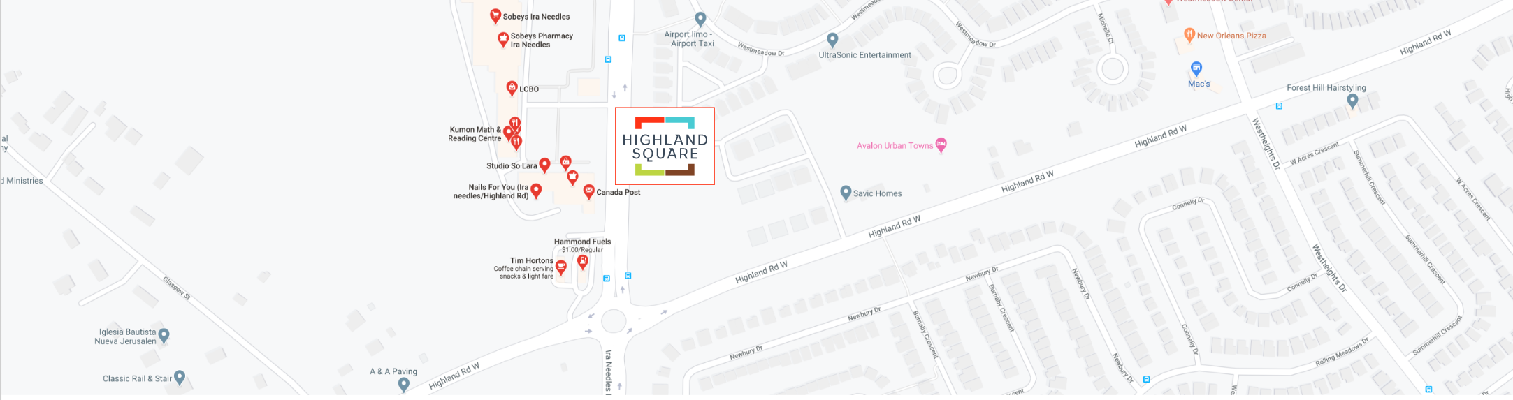 Highland Square in Kitchener - Privacy Policy