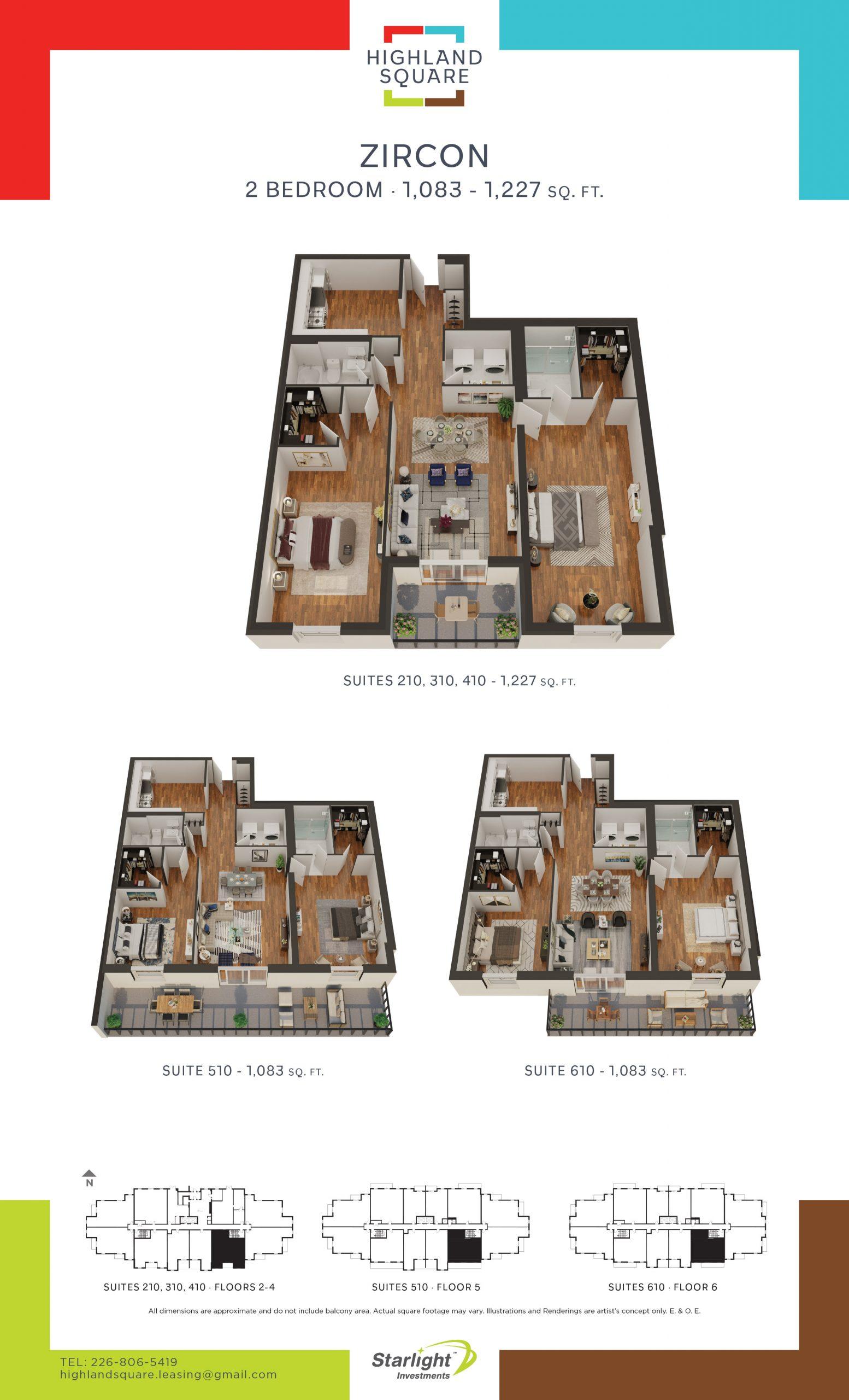 Highland Square in Kitchener - Floorplans